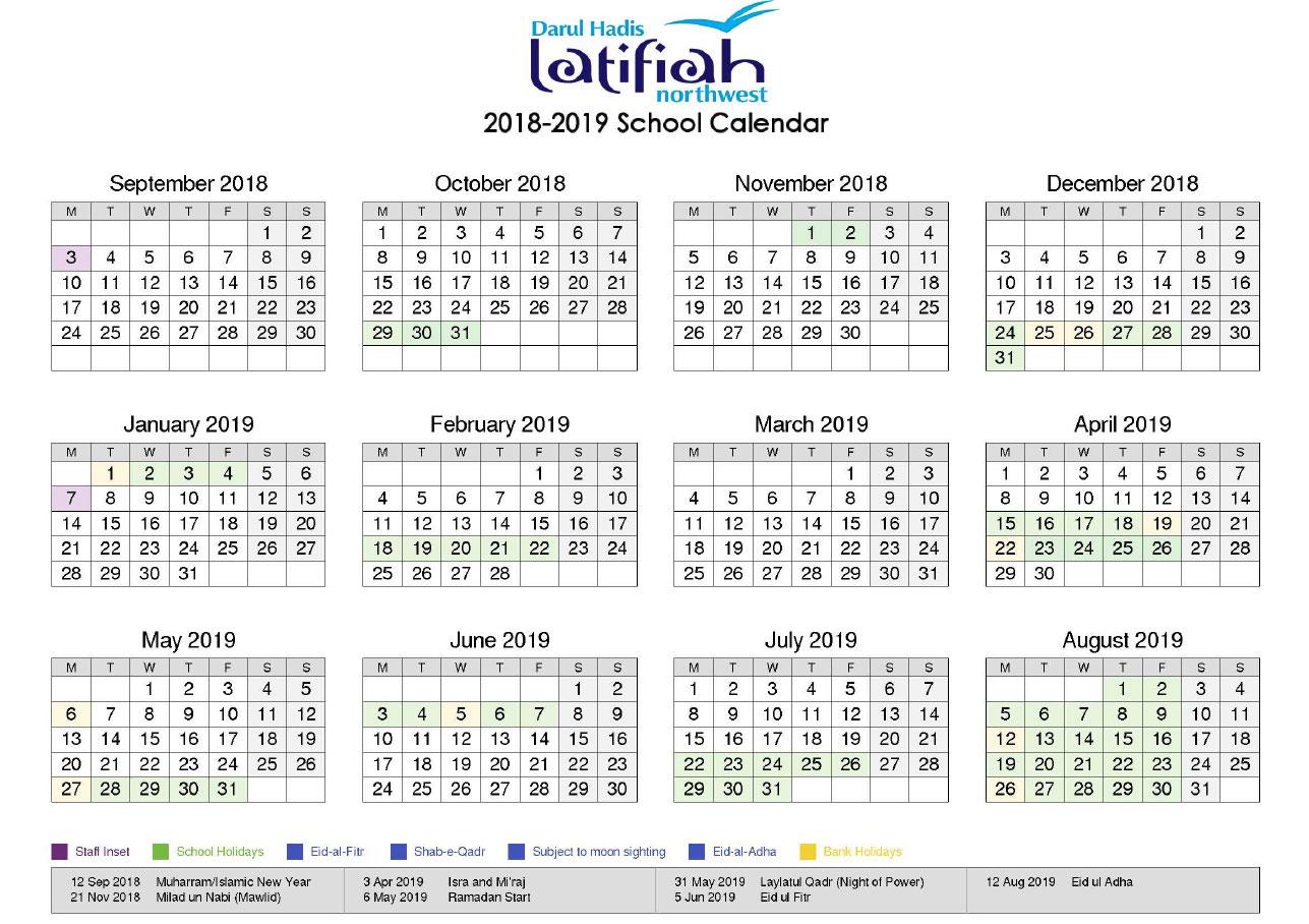 Calendar18/19